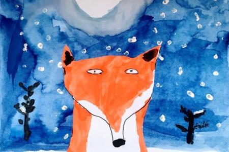 Lišky vzimě