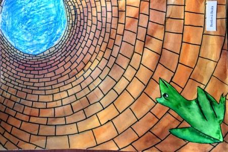 Žába ve studni