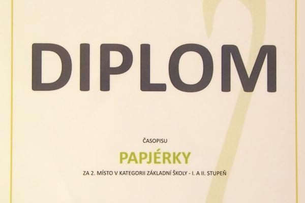 Papjérky získaly 2. místo v celostátní soutěži